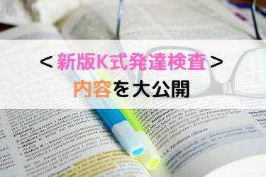 新版K式発達検査2001の内容を大公開!