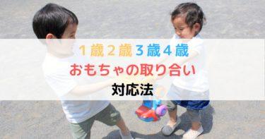 1歳2歳3歳4歳子供  おもちゃの取り合いが起こったら?保育士が解決!