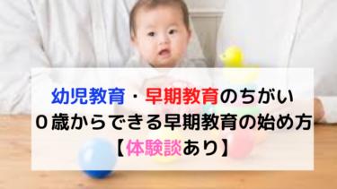 【保育士解説】幼児教育・早期教育はいつから始める?0歳からできる始め方