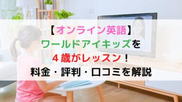 【感激】ワールドアイキッズを4歳がレッスン!料金・評判・口コミを解説